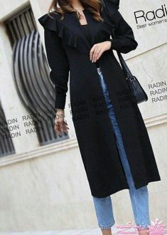 Hijab Fashion Summer, Modern Hijab Fashion, Street Hijab Fashion, Abaya Fashion, Muslim Fashion, Fashion Dresses, Simple Kurti Designs, Mode Abaya, Iranian Women Fashion