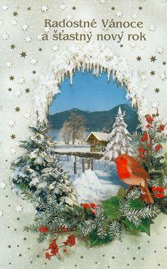Vintage Christmas Cards, Advent, Christmas Wreaths, Album, Couture, Holiday Decor, Painting, Xmas Cards, Nostalgia