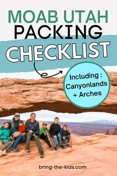 Moab is one of our all time favorite places to travel with our family. It's got a massive amount of adventure activities RIGHT THERE for the whole family, and it also makes us feel right at home (after 4 years of living in the Saudi Arabian desert). Here's the most practical Utah travelling with kids packing checklist that you need! Zion Utah, Moab Utah, Printable Packing List, Packing Checklist, Moab Arches, Moab Desert, Utah Camping, Utah Vacation, Utah Adventures