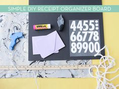 Tax season is fast approaching and if you need a little help organizing your receipts, take a look at this simple DIY organizer! Receipt Organization, Organization Station, Clutter Organization, Organizing Life, Organization Ideas, Easy Diy, Simple Diy, Diy Organizer, Paper Clutter