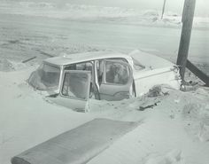Buried car ( Baltimore Sun photo by A. Aubrey Bodine / April 1962 ) A car is buried at and Ocean Highway after the 1962 flood in Ocean City. Chesapeake Bay Bridge, Ocean City Md, Sun Photo, Beach Boardwalk, Summer Memories, Beach Town, Beach Resorts, Old Pictures, Baltimore