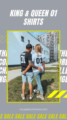 You've been happily together for years so why not show off your love to the rest of the world? These gorgeous couples matching tees are designed with a stylish and fashion forward way to show their love to the whole world 😍 #coupleschoices #matchingoutfit #giftideas