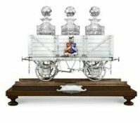 English sterling silver decanter stand