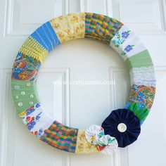 Craftiments Scrap Busting Fabric Wrapped Wreath