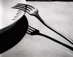 The time of business does not with me differ from the time of prayer, and in the noise and clatter of my kitchen, while several persons are at the same time calling for different things, I possess God in as great tranquility as if I were upon my knees at the blessed sacrament.―Brother Lawrence Photograph: André Kertész, Fork, 1928 From parabola-magazine.