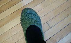 Vivre au crochet: Chaussons (pantouffles) - slippers faciles au croc...