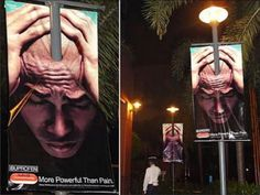 Advil. Best use of a lamp pole I've ever seen. Via The Philippines. | 10 More Of The Coolest Unconventional Ads