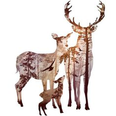 Animals Forest Wall Art Wall Decor Wall Picture Canvas Prints Canvas Art Poster Oil Paintings For Living Room Wall No Frame Hirsch Silhouette, Deer Silhouette, Canvas Wall Art, Canvas Prints, Art Prints, Painted Canvas, Canvas Frame, Hand Painted, Hirsch Tattoo