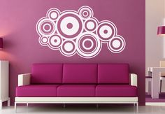 Wall Decals - Retro Rings Wall Decal- Cool Circle Vinyl Decor