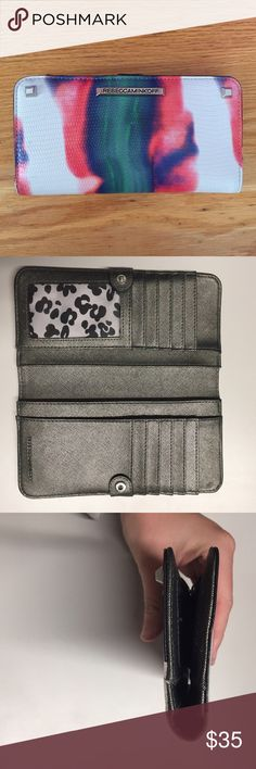 Rebecca Minkoff Sophie Snap Wallet Super cute RM snap wallet! Features multiple card slots and four compartments suitable for cash. In good pre-lived condition. The side black piping is peeling from wear (pictured), but otherwise in great condition. Rebecca Minkoff Bags Wallets