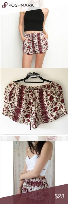 NEW Brandy Melville rose eve shorts Brand new with tags eve shorts from Brandy with tags Brandy Melville Shorts
