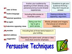 Persuasive Techniques: Lessons and activities