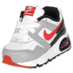 Boys' Toddler Nike Air Max Navigate Running Shoes| FinishLine.com | White/Black/New Grey