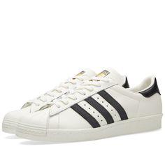 buy popular 542a1 d59e8 Adidas Superstar 80s DLX (Vintage White   Core Black) Adidas Men, Sneakers  Adidas