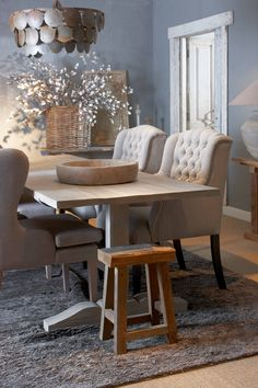If you put the table with some modern chairs and keep the lighting - this would be cool