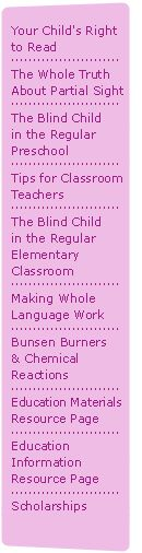 Para and Teacher Responsibilities when working with a blind child
