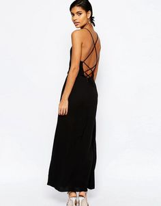 Image 1 ofASOS Maxi Dress with Tie Back