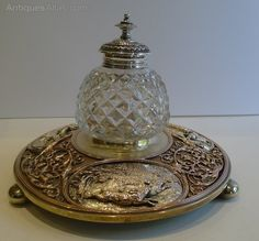 Antiques Atlas - Antique English Electrotype Figural Inkwell C.1880
