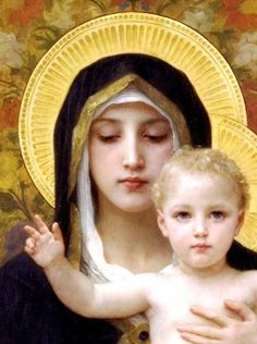 La Vierge au lys ~ William Bouguereau ~ (1825-1905) ~ French