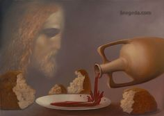 """#Mystery of #Communion"" by Victor #Bregeda () #ChristianArt #BornAgain #Art #Communion #NewTestament"