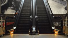This pair of escalators descending and ascending in perpetuity. | 21 GIFs That Will Calm You The F*ck Down