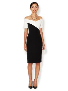DESK TO DINNER - Joan Colorblocked Sheath Dress (LRK)