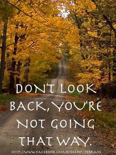 Keep going forward!