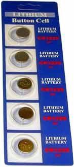 (5) CR1225 3V LITHIUM BATTERIES $0.19