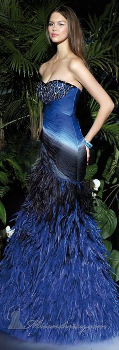 Alyce Designs couture 2013. OOOH MYYY!!! I WANT this dress!!!! It's simply stunning AND in my favorite color!!!