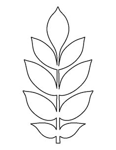 Ash leaf pattern. Use the printable outline for crafts, creating stencils, scrapbooking, and more. Free PDF template to download and print at patternuniverse.c...