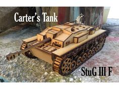 My second tank. It is about 27.5 cm long, 16 cm large and 11 cm tall (~1:18 scale) . This one has not any space for any motor, i just designed it as a static model (you can put hingeable track that allows you to move the tank with the hand). I give you the choice to put easy tracks, that do not move, but which are very fast to make. You can also make moving tracks, which moves, but are very long to cut and make. Use 3mm sheets for that. The red pathes must be engraved and the black pathes…