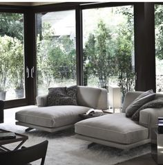His & Hers chaise lounge sofa, looks so comfortable and so inviting!