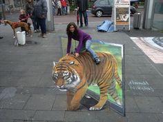 Street Tiger (by German street artist Nikolaj Arndt)