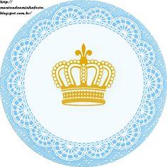 Montando minha festa: Kit digital gratuito para imprimir Coroa de Príncipe Azul!