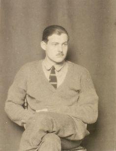 Ernest Hemingway, Paris 1923 -by Man Ray