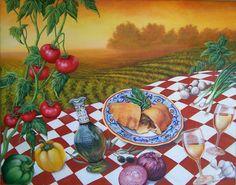 Olio de Oliva fine art giclee reproduction still by GlendaOkiev, $225.00