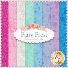 """Fairy Frost 8 FQ Set - Pixie Dust Set by Michael Miller Fabrics Fairy Frost is a collection by Michael Miller Fabrics. 100% Cotton. This set contains 8 fat quarters, each measuring approximately 18"""" x 21""""."""