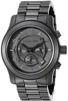 Michael Kors Men's Watch- Black bracelet Chronograph Sport.  A sporty and handsome watch capable of making you look your best at the stadium or in the office!