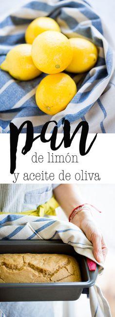 Receta de pan de limón y aceite de oliva, vegano, delicioso y super rápido de hacer.