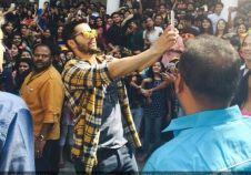 Varun Dhawan promotes 'Badlapur' at HL College in Ahmedabad