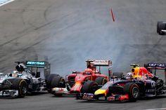 Hamilton, Raikkonen en Ricciardo