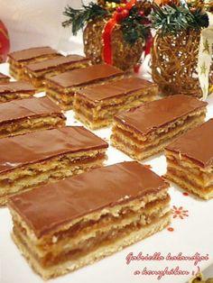 Gabriella kalandjai a konyhában :): Zserbó szelet Hungarian Desserts, Hungarian Cake, Hungarian Recipes, Bakery Recipes, Cooking Recipes, Torte Cake, Winter Food, Sweet Recipes, Caramel
