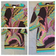 Multi Color Flare sleeved Dress  NWT eci New York - Multi Color Flare Sleeved Light Weight & stretchy Dress. 95% polyester 5% spandex ECI Dresses