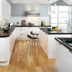 White Kitchen Units Black Tiles related image | kitchen | pinterest | kitchens, white gloss