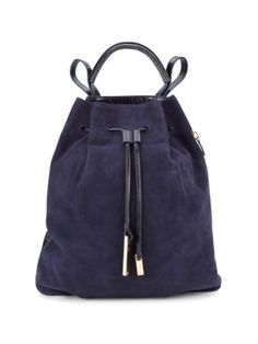 47e3245451a2 HALSTON HERITAGE Leather   Suede Backpack.  halstonheritage  bags   backpacks  suede