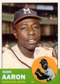 390 - Hank Aaron - Milwaukee Braves Baseball Park, Braves Baseball, Baseball Stuff, Hank Aaron, The Outfield, Chicago White Sox, Atlanta Braves, Mlb, Sports Logos