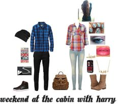 """Weekend At The Cabin With Harry"" by niall-is-the-best on Polyvore"