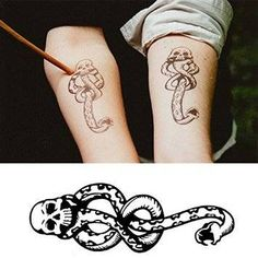 1) Temporary tattoos, easily used with clear instructions. 2) 5 PCS included, each dimension: 10cm*3cm( 1cm approx. 0.39inch) 3) Great for Harry potter ...                                                                                                                                                                                 More