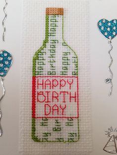 Happy birthday card for a wine addict!