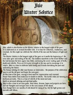 Yule - May read this at family Christmas and see if anyone lights their hair on fire.
